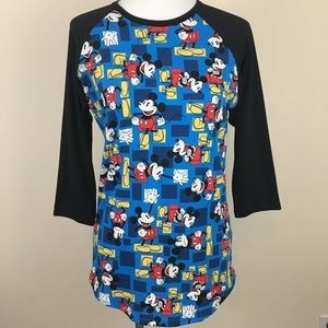 LuLaRoe Disney Mickey Mouse Randy T-Shirt Tee S